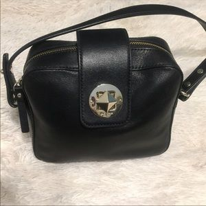 Kate Spade Black Bag W/Free KP Cut Out Keychain!